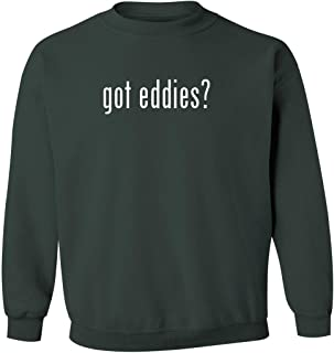 got eddies? - Men's Pullover Crewneck Sweatshirt, Military Green, Large