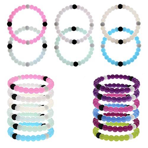 FROG SAC 6 PCS VSCO Bracelets for Teen Girls, UV Solar Reactive Silicone VISCO Bracelet Pack, Cute Bracelets for Kids Change Color In The Sun, VSCO Girl Stuff, Birthday Party Favors Gifts