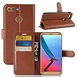 JARNING Compatibile con ZTE Blade V9 Custodia Cover PU Pelle Wallet Flip Case Portafoglio Funzione Stand Magnetica Chiusura -Marrone