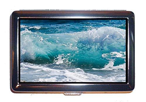 Yanteng Stainless Steel ID or Cigarettes Case,beach ocean sea,Cash Holder Case Box