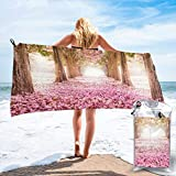 Gebrb Toalla de baño de Microfibra,Toallas de Gimnasio,Flower Road Microfiber Fast Drying Towels Suitable for Camping, Backpacking,Gym, Beach, Swimming,Yoga