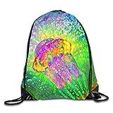 JMAKI Colorful Jellyfish Gymbag Sporttasche Gymtasche Turnbeutel Beutelrucksack Rucksack Sport...