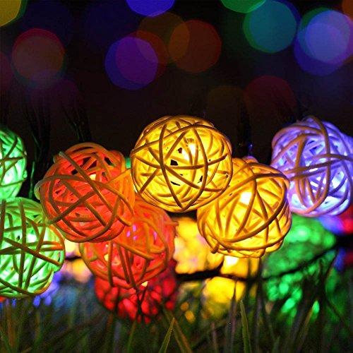 Luci Stringa di Natale, LightsGoal Luce Stringa solare, String Light Party Globe, Decorare Illuminazione per casa, Giardino, Cortile, Albero, 30 LED, 2 modalità, Colorato