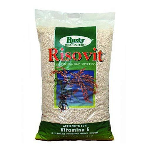 RUSTY RisoVit 5kg Riso soffiato, Adatto per l'alimentazione Quotidiana degli Animali Domestici
