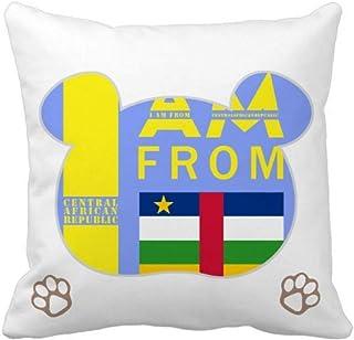 OFFbb-USA I Am from Central African Republic Bear - Funda de almohada cuadrada