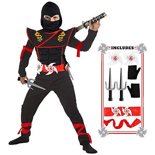Ninja Costume Boy Halloween Luxury Ninja Costume Dragon Ninja Muscle Costume Ninja Foam Toys for Kids