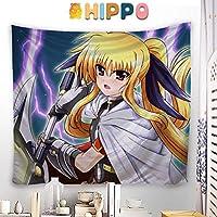 HIPPO タペストリー 魔法少女リリカルなのは フェイト・テスタロッサ 大判壁掛け ポスター アニメの絵 掛ける絵 背景布け 多機能 インテリア 装飾用品 漫画 HD プレゼント カスタム可能 100 x 100cm