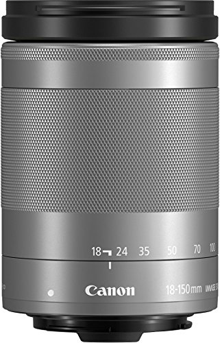 Canon EF-M 18-150 - Objetivo para Canon EOS M5, EF-M 18-150 mm f/3,5-6,3 IS STM,Plata