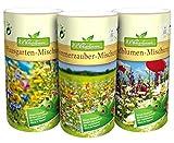 N.L.Chrestensen SET 3 Dosen - Blumeninsel im Garten Blumensaatgut Mehrfarbig