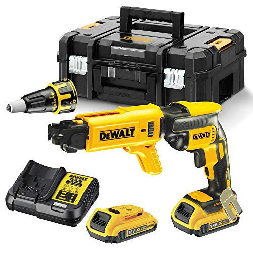 DEWALT 18 V XR Brushless Collated Drywall Screwdriver, 2 x 2 Ah