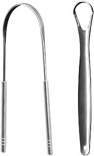 SUPVOX 舌スクレーパークリーナーステンレス鋼舌クリーニング口腔用大人子供4ピース