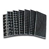 Plato de 50 hoyos 10 piezas de bandeja de semillas semillas de semillas brotes de plástico simple huerto nutritivo de alta calidad cultope pimienta plántulas brotes de soja