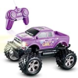 Girls Remote Control Truck Car Toy for Kids Toddlers Birthday Christmas 1:24 Scale RC Trucks Vehicles - Purple