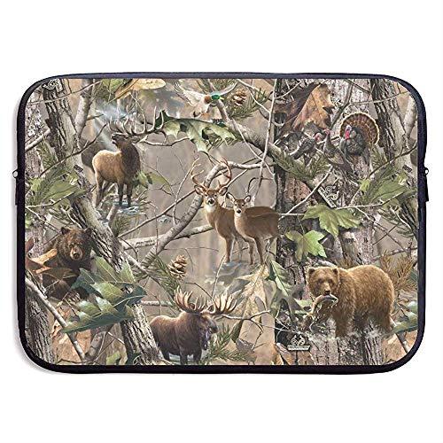 Zome Lag laptoptas, laptoptas, tas voor laptops, laptoptas, Huadduo Moose Deer en Bear in bos 13 Inch 4550