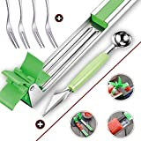 Stainless Steel Watermelon Windmill Cutter Slicer - Fruit and Vegetable Knife Corer Tools, with 4 Extra Forks, Melon Baller Scooper and Knife