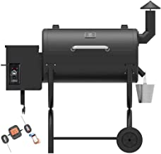 Z GRILLS Wood Pellet Grill and Smoker 2020 New Model Outdoor BBQ Grill with Wireless Meat Thermometer