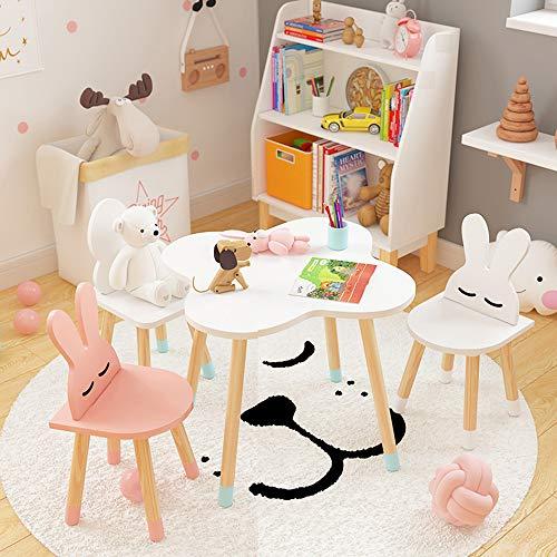 Table et Chaise pour Enfants, Ensemble de Table et chaises de Jeu d'écriture, Dessin animé, Multicolore