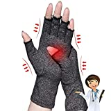 Arthritis Gloves,New Material, Compression for Arthritis Pain Relief Rheumatoid Osteoarthritis and Carpal Tunnel, Premium Compression & Fingerless Gloves for Typing and Daily Work (Dark Gray, L)