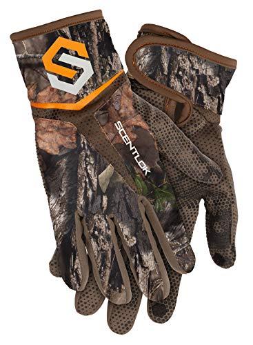 ScentLok Full Season Bow Release Glove (Mossy Oak Country, Medium)