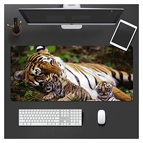 IMBMW Anime Mouse Pad 800X300X3MMXXL Large Mousepad Computer Keyboard Pad with Smooth Surface, Non-slip Rubber Base Desk Mat for Gaming, Macbook, PC, Laptop Natural Animals-3