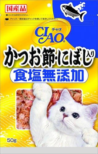 CIAO かつお節・にぼし入り 食塩無添加 50g