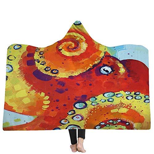 SKLLA Die Decke der Decke der Kinderdecke Doppel-Plüsch 3D Hand gezeichnet Tiermuster,1,130cm*150cm