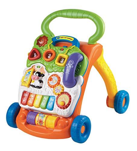 VTech Baby 80-077066 - Spiel und Laufwagen, EasyMail-Verpackung, bunt-grün/orange