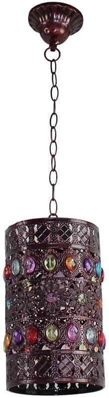 Hanging lamos Retro Over item handling ☆ Industrial Milwaukee Mall Pendant Art Light Round Cha Iron
