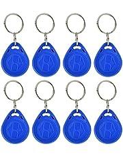 100 PCS beschrijfbare keyfobs ID/IC-kaart Keychians Toegangscontrole Nabijheid Blauwe RFID-kaart Token-tags voor deurslot Toegangssysteem