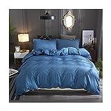 RKMJXJ 3 Stücke mehrfarbiger Baumwolle und Leinen-Wäsche-Bettwäsche-Bettwäsche, weiche und luxuriöse gestreifte Textur-Bettbezug, mit Reißverschluss und Eckflieger (Color : Red, Size : A-200 * 230)