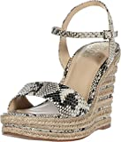 Vince Camuto Women's Marybell Espadrille Platform, Black/White, 7.5