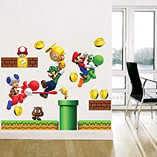 SeedWorld Wall Stickers - Vinyl Removable Wall Stickers Sticker Home Decor S Giant Big Super Mario Bros Children Removable Wall Box Stickers Home 1 PCs