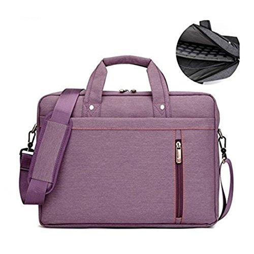 17.3' Waterproof Shockproof Roomy Stylish Laptop Shoulder Messenger Bag Handle Bag Tablet Briefcase For 17 Inch Laptop/Tablet/Macbook/Surface (Purple)