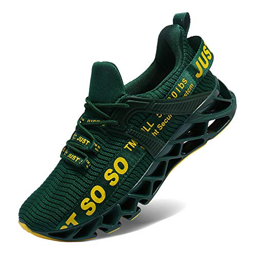 Lingmu Zapatillas deportivas para hombre, ligeras, transpirables, antideslizantes, color, talla 43 EU