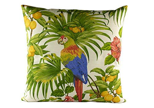 DiseLio 1 Funda de Cojín Estampado Pájaro Tropical, 45 x 45 cm, Loneta 100% Algodón (Made in Spain) (tropical45x45)