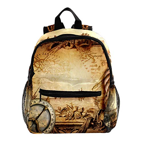 Cool Backpack Kids Sturdy Schoolbags Back to School Backpack for Boys Girls,Adventure Stories Vintage