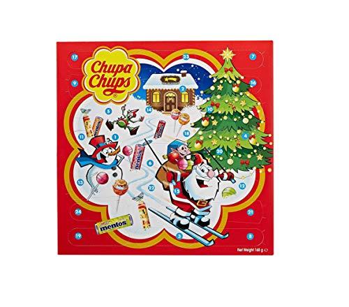Chupa Chups X-mas Calendar, Calendario dell'Avvento con Caramelle e Lecca-Lecca, Lollipop e Caramelle Assortite, 24 Sorpresine