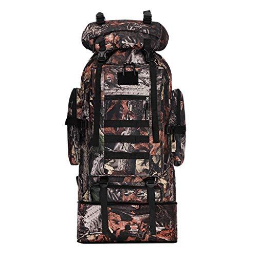 KERULA Handgepäck Rucksack Damen Herren Mädchen Kinder Große Kapazität 100L Backpack Camouflage Outdoor Tasche Reisetasche Bergsteigen Sportrucksack Daypack