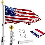 WeValor 20FT Telescoping Flag Pole Kit, Heavy Duty 16...