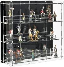 SORA Vetrina espositiva per figure da collezione con pannello posteriore nero