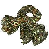 Bufanda de malla táctica de camuflaje para Wargame, deportes y otras actividades al aire libre (camuflaje alemán)
