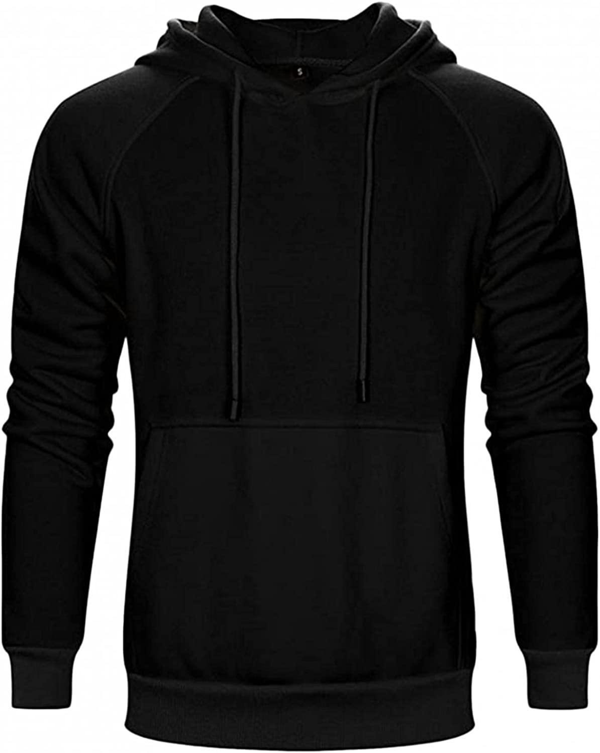 Beppter Mens Hooded Sweatershirts Solid Long Sleeve Hoodies Pullover Casual Fashion Sports Tops Blouse with Pockets