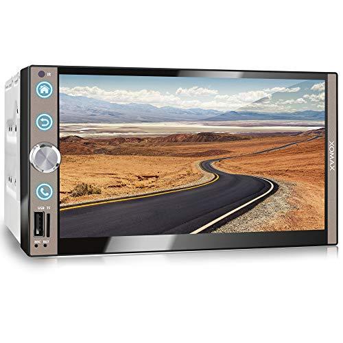 XOMAX XM-2V765 Autoradio mit Mirrorlink, Bluetooth Freisprecheinrichtung, 7 Zoll / 18cm Touchscreen Bildschirm, FM Tuner, SD, USB, 2 DIN