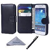 wisdompro Galaxy S4 Mini Case, Premium PU Leather 2-in-1