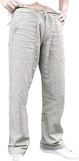 Amazon Es Pantalones De Lino Para Hombre Negro