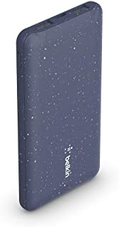 Belkin Slim Lightweight Portable Power Bank Charger 10K (for multiple devices at once through 15W USB-C port, two USB-A po...