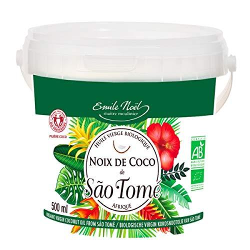 Emile Noel - Huile de coco vierge Sao Tomé 50cl - Lot De Lot De 3 - Vendu Par Lot - Livraison Gratuite En France