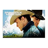Heath Ledger Brokeback Mountain Movie Poster 9 Canvas Poster Wall Art Decor Print Picture Paintings for Living Room Bedroom Decoration 20×30inch(50×75cm) Unframe-style1