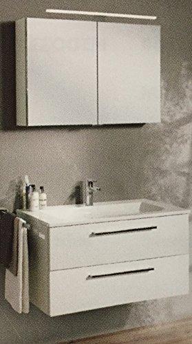 Burgbad Set mit Waschtisch 121cm mit Unterschrank und Spiegelschrank