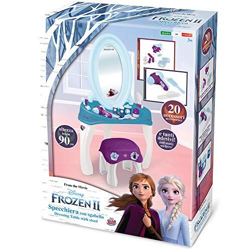 Grandi Giochi- Frozen 2 Specchiera con Sgabello, Multicolore, GG02410